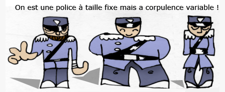 Polices a taille fixe