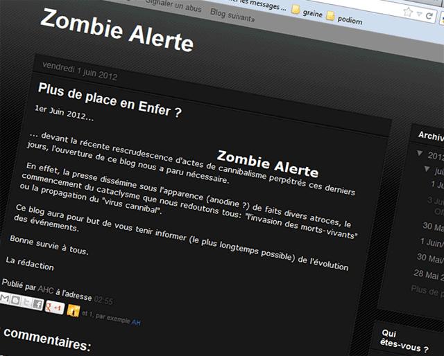 Le blog zombie alerte !