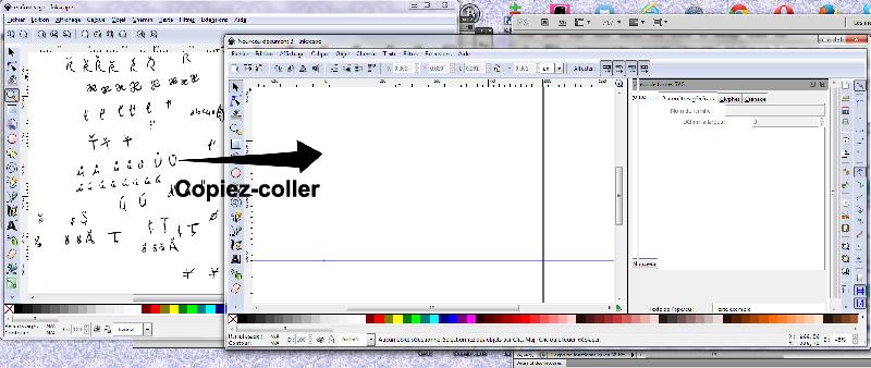 Inkscape, logiciel de dessin vectoriel.